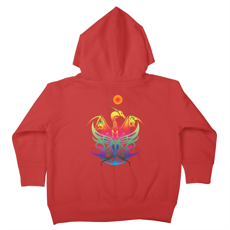 Star Dragon Kids Toddler Zip-Up Hoody by Matthew Lacey-icarusismartdesigns