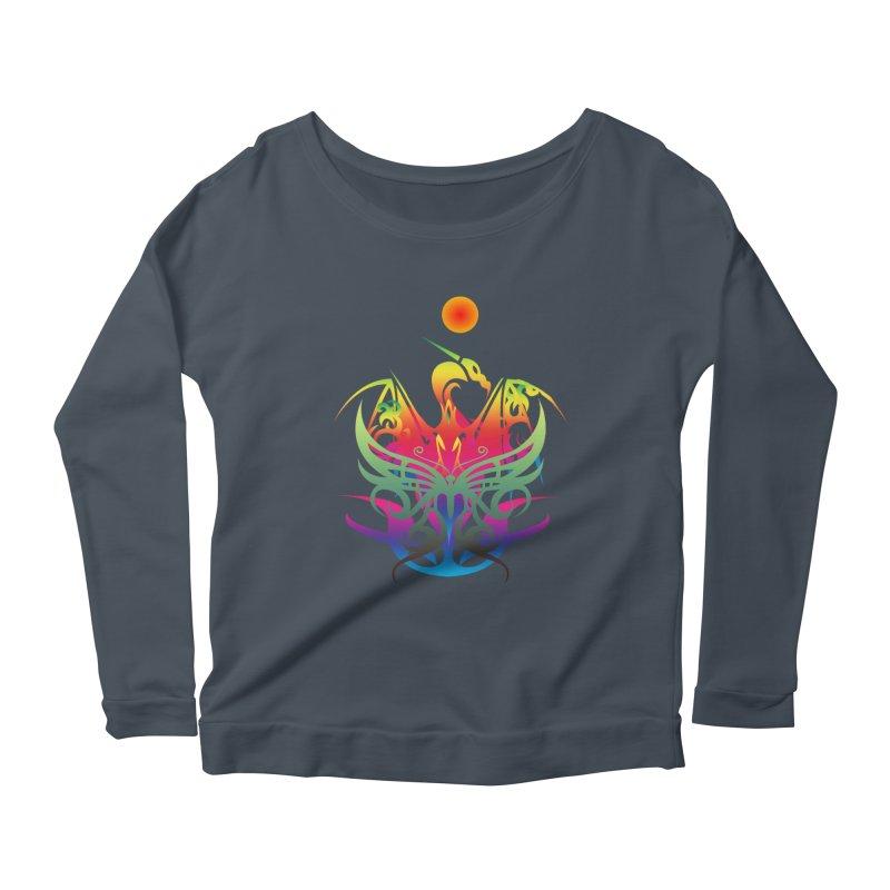 Star Dragon Women's Scoop Neck Longsleeve T-Shirt by Matthew Lacey-icarusismartdesigns