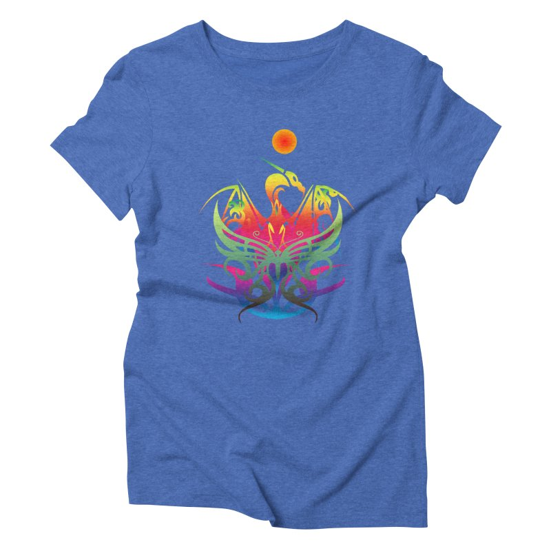 Star Dragon Women's Triblend T-Shirt by Matthew Lacey-icarusismartdesigns