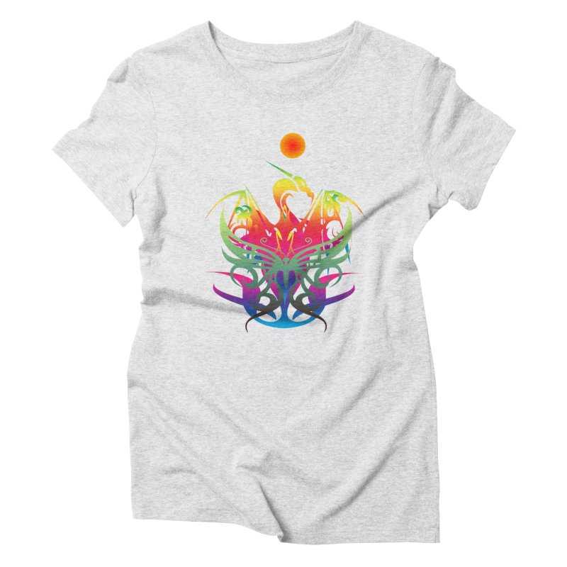 Star Dragon Women's T-Shirt by Matthew Lacey-icarusismartdesigns