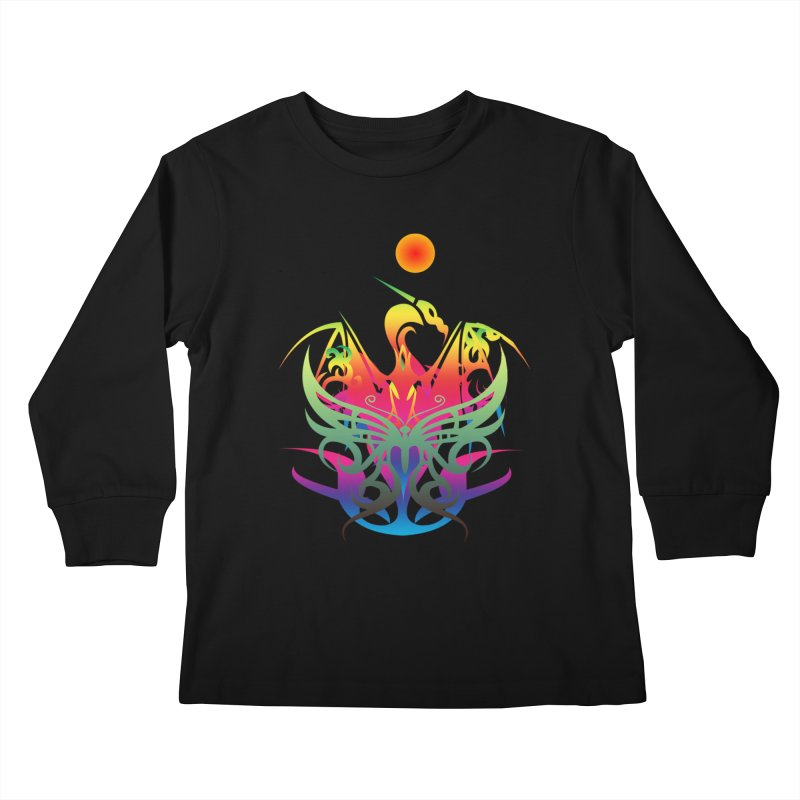 Star Dragon Kids Longsleeve T-Shirt by Matthew Lacey-icarusismartdesigns