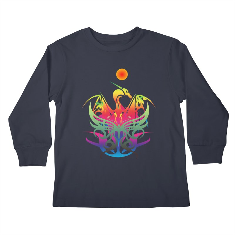 Star Dragon Kids Longsleeve T-Shirt by Matthew Lacey-icarusismartdesigns