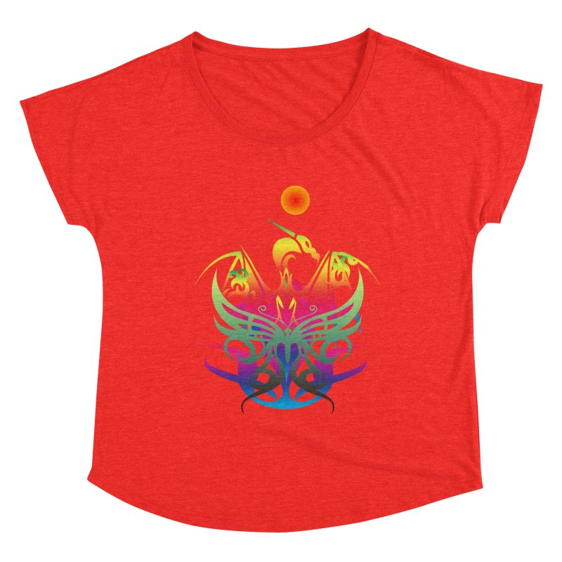 Star Dragon Women's Scoop Neck by Matthew Lacey-icarusismartdesigns