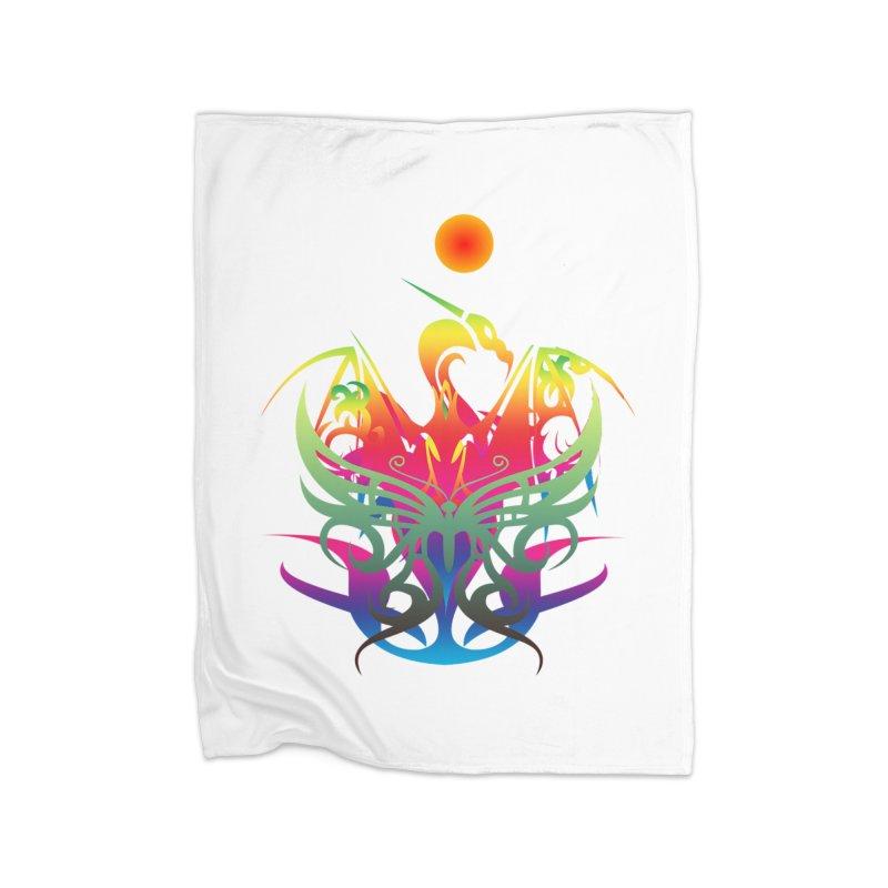 Star Dragon Home Blanket by Matthew Lacey-icarusismartdesigns