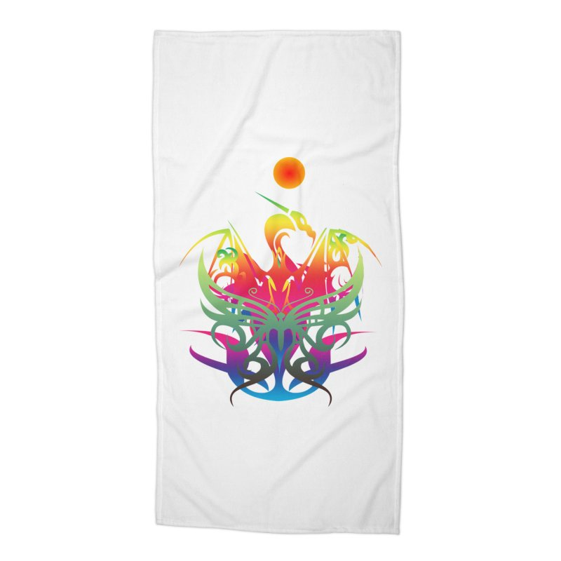 Star Dragon Accessories Beach Towel by Matthew Lacey-icarusismartdesigns