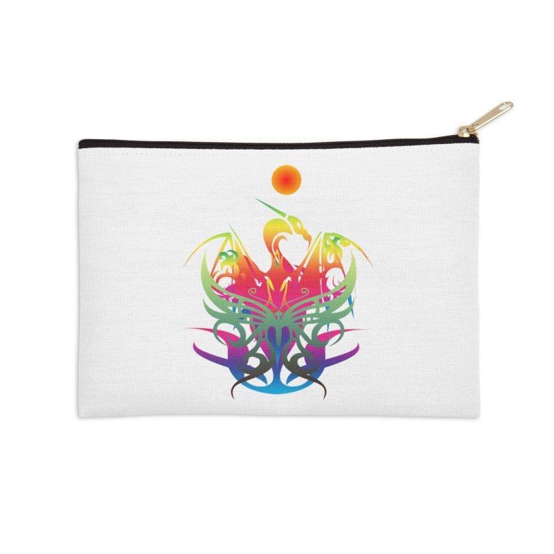 Star Dragon Accessories Zip Pouch by Matthew Lacey-icarusismartdesigns