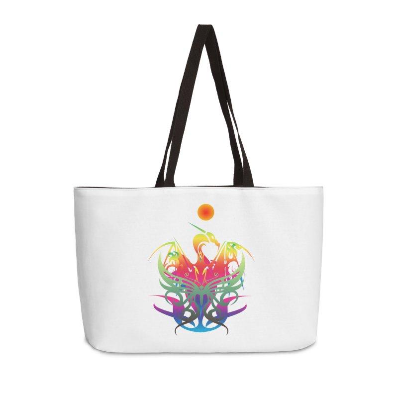 Star Dragon Accessories Weekender Bag Bag by Matthew Lacey-icarusismartdesigns