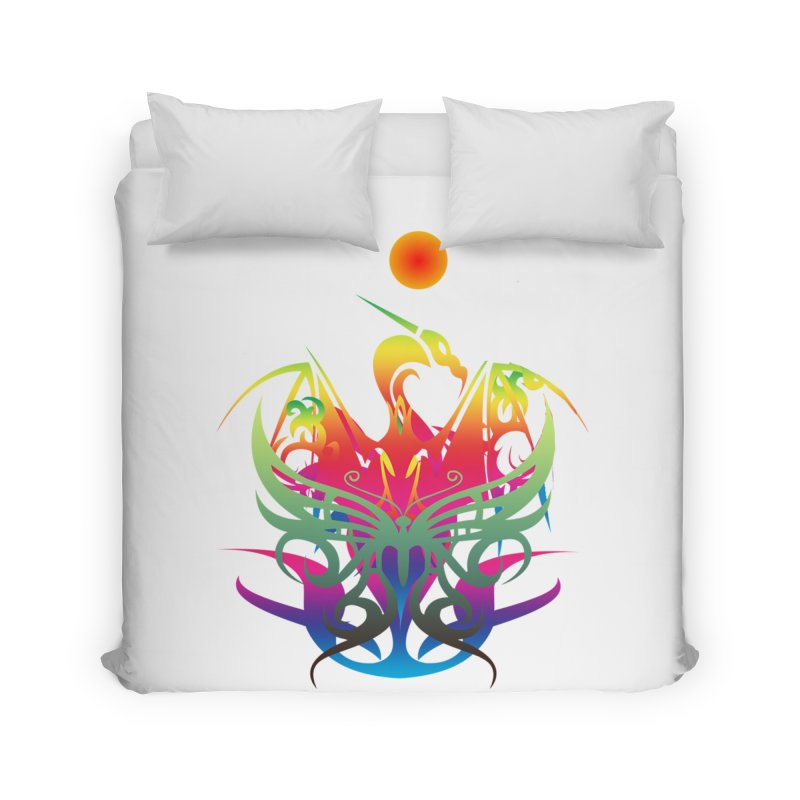 Star Dragon Home Duvet by Matthew Lacey-icarusismartdesigns