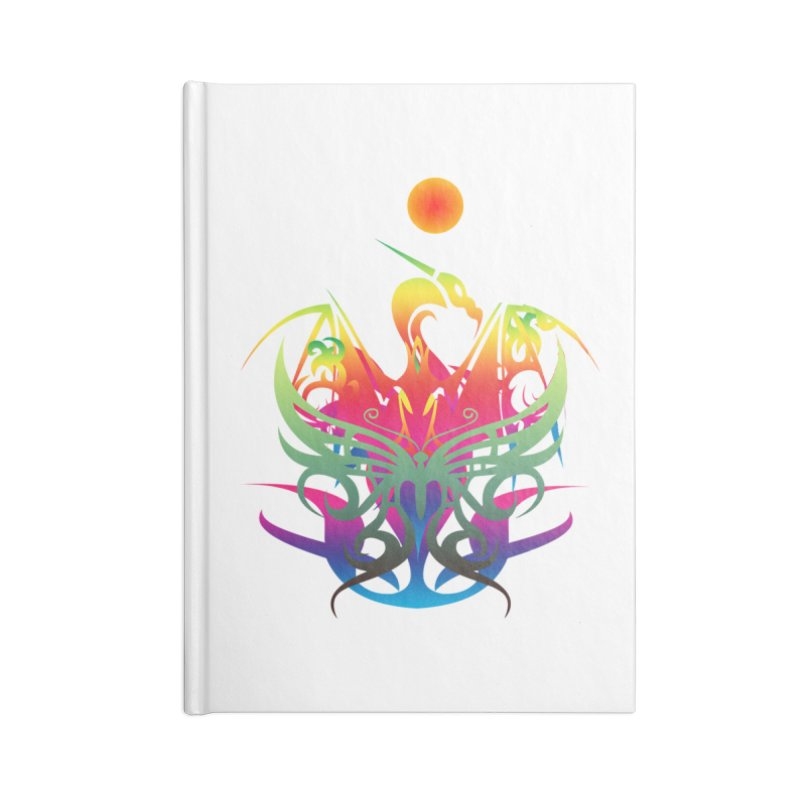 Star Dragon Accessories Lined Journal Notebook by Matthew Lacey-icarusismartdesigns