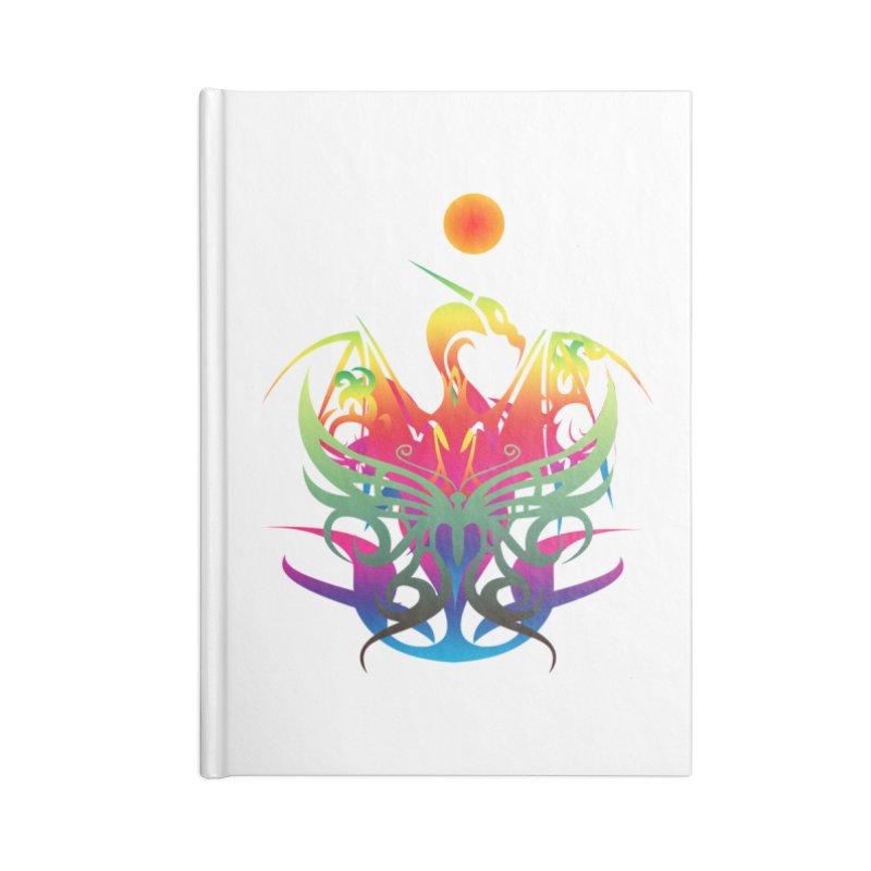 Star Dragon Accessories Blank Journal Notebook by Matthew Lacey-icarusismartdesigns