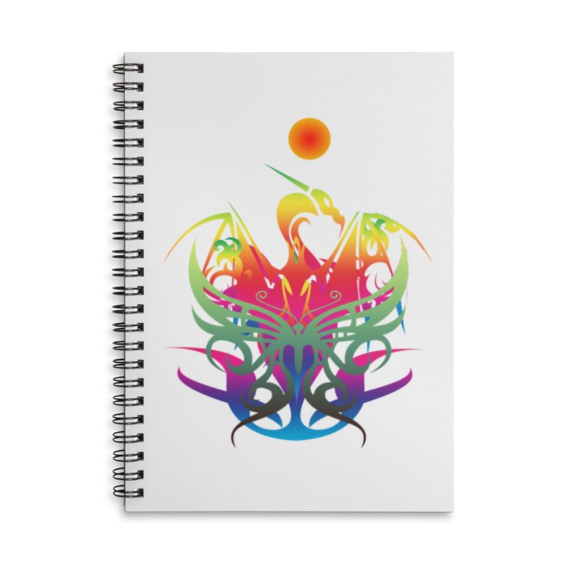 Star Dragon Accessories Lined Spiral Notebook by Matthew Lacey-icarusismartdesigns