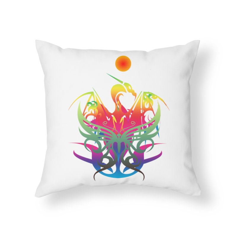 Star Dragon Home Throw Pillow by Matthew Lacey-icarusismartdesigns