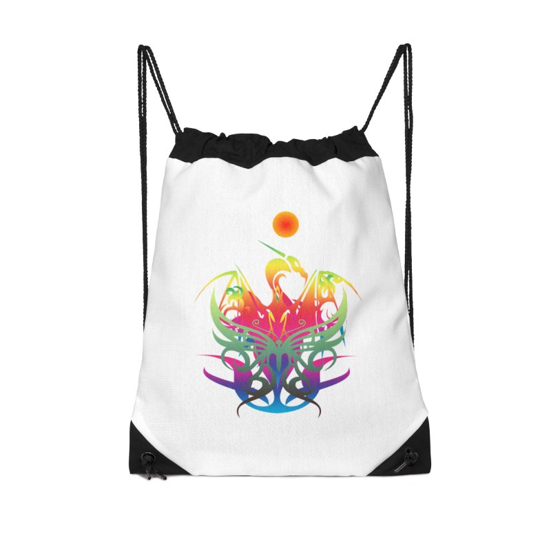 Star Dragon Accessories Drawstring Bag Bag by Matthew Lacey-icarusismartdesigns
