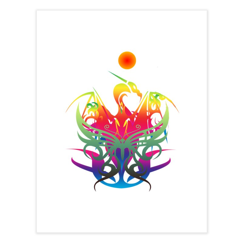 Star Dragon Home Fine Art Print by Matthew Lacey-icarusismartdesigns
