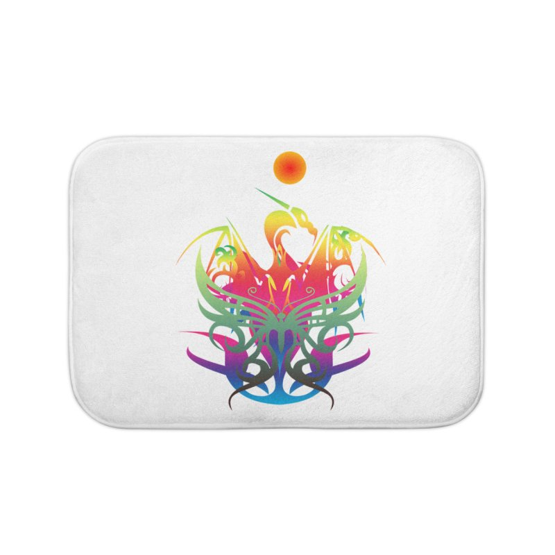 Star Dragon Home Bath Mat by Matthew Lacey-icarusismartdesigns