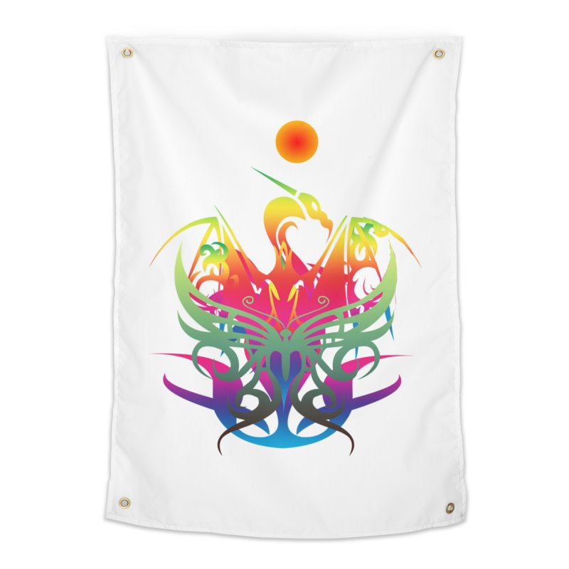Star Dragon Home Tapestry by Matthew Lacey-icarusismartdesigns