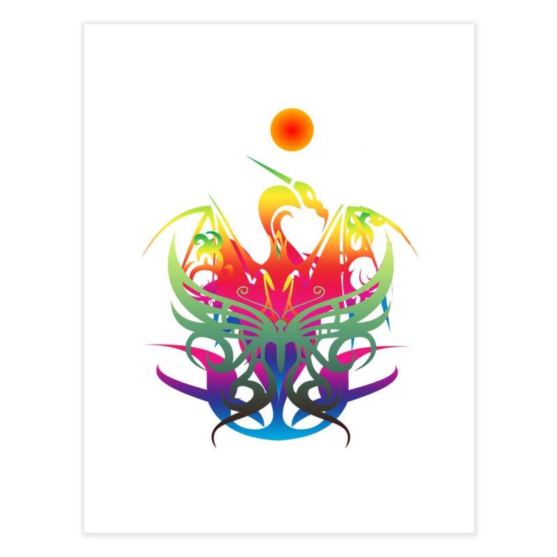 Star Dragon Home Fine Art Print by Matthew Lacey-icarusismartdesigns