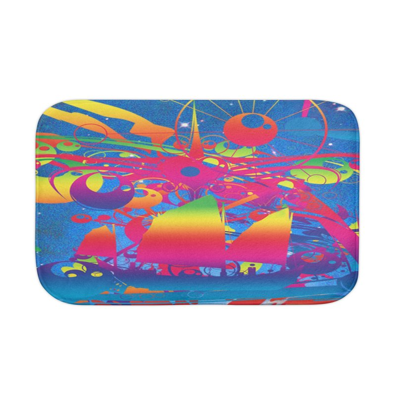 Star Ship Home Bath Mat by Matthew Lacey-icarusismartdesigns