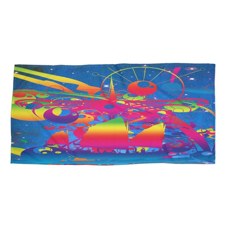 Star Ship Accessories Beach Towel by Matthew Lacey-icarusismartdesigns
