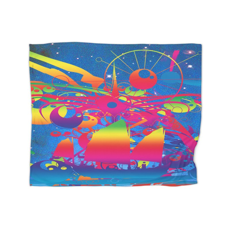 Star Ship Home Blanket by Matthew Lacey-icarusismartdesigns