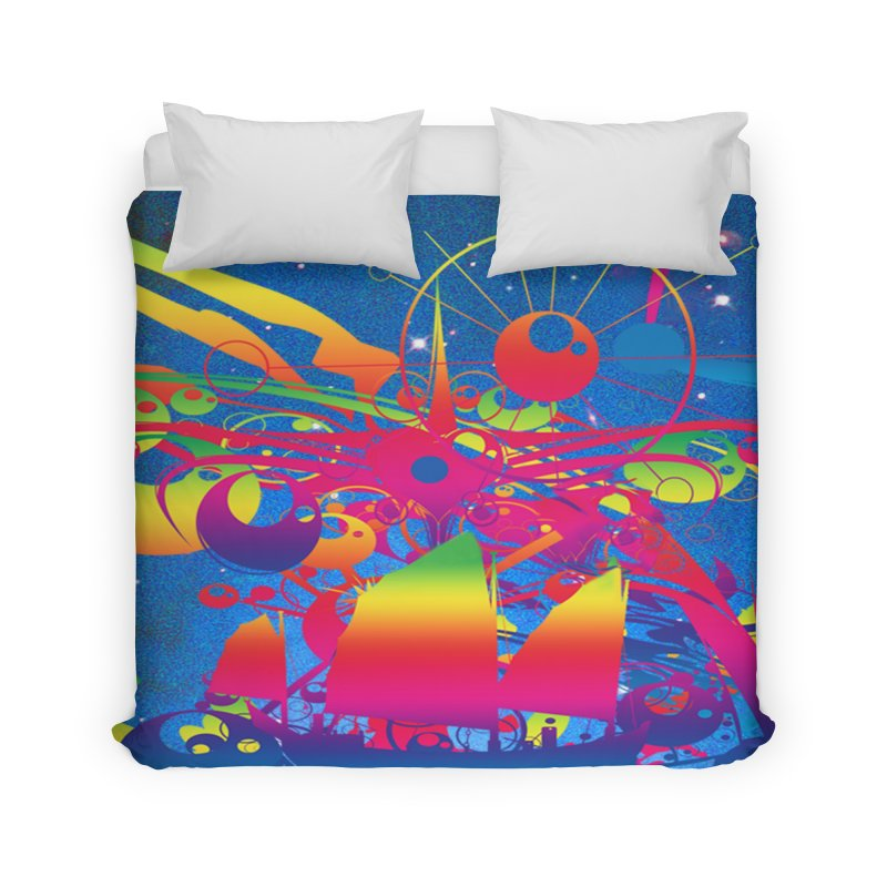 Star Ship Home Duvet by Matthew Lacey-icarusismartdesigns
