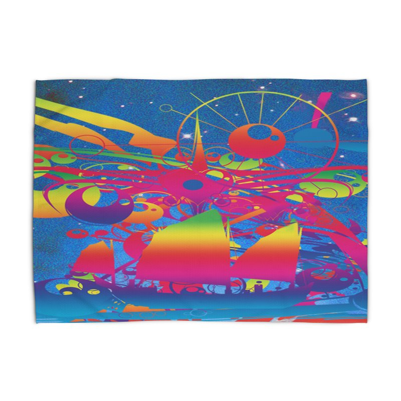 Star Ship Home Rug by Matthew Lacey-icarusismartdesigns