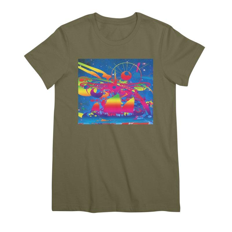 Star Ship Women's Premium T-Shirt by Matthew Lacey-icarusismartdesigns