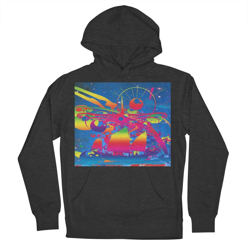 Star Ship Women's French Terry Pullover Hoody by Matthew Lacey-icarusismartdesigns