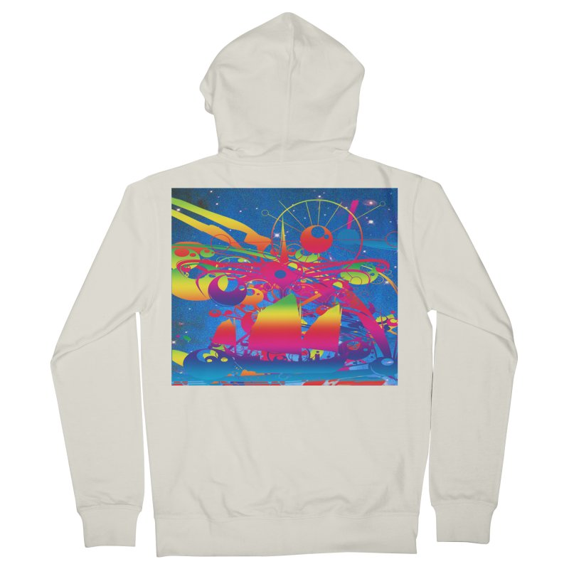 Star Ship Women's French Terry Zip-Up Hoody by Matthew Lacey-icarusismartdesigns