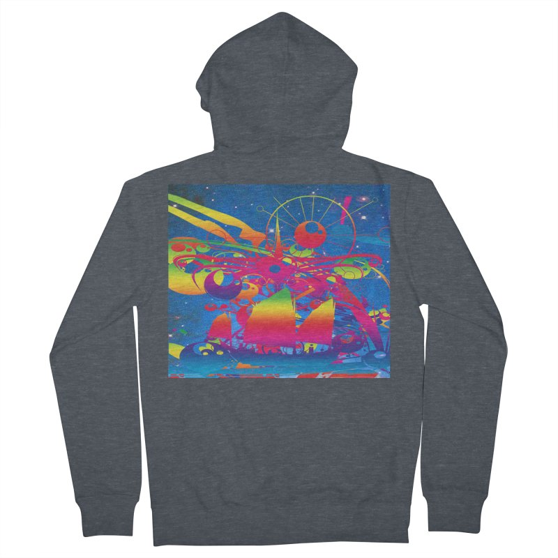 Star Ship Men's Zip-Up Hoody by Matthew Lacey-icarusismartdesigns