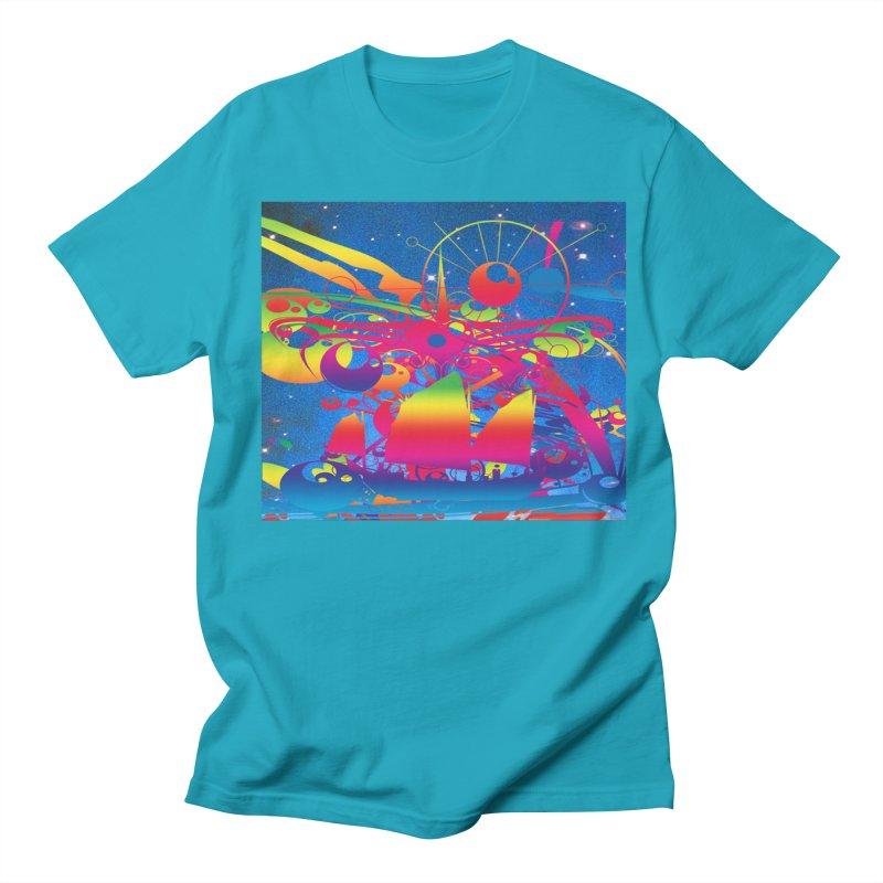 Star Ship Men's T-Shirt by Matthew Lacey-icarusismartdesigns