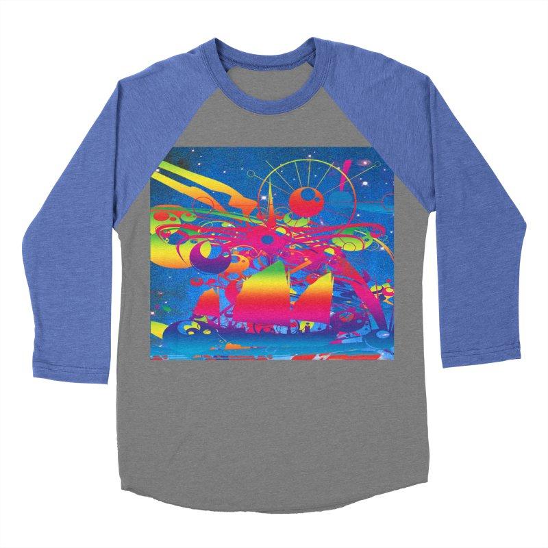 Star Ship Women's Baseball Triblend Longsleeve T-Shirt by Matthew Lacey-icarusismartdesigns