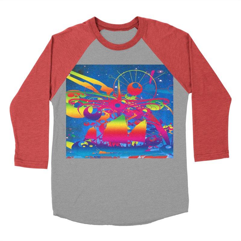 Star Ship Men's Baseball Triblend Longsleeve T-Shirt by Matthew Lacey-icarusismartdesigns