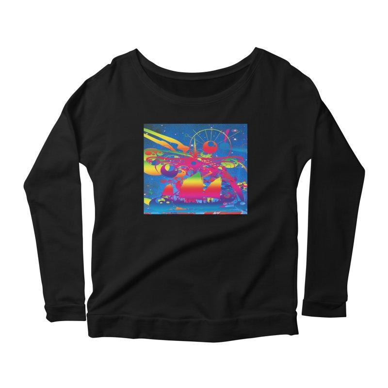 Star Ship Women's Scoop Neck Longsleeve T-Shirt by Matthew Lacey-icarusismartdesigns