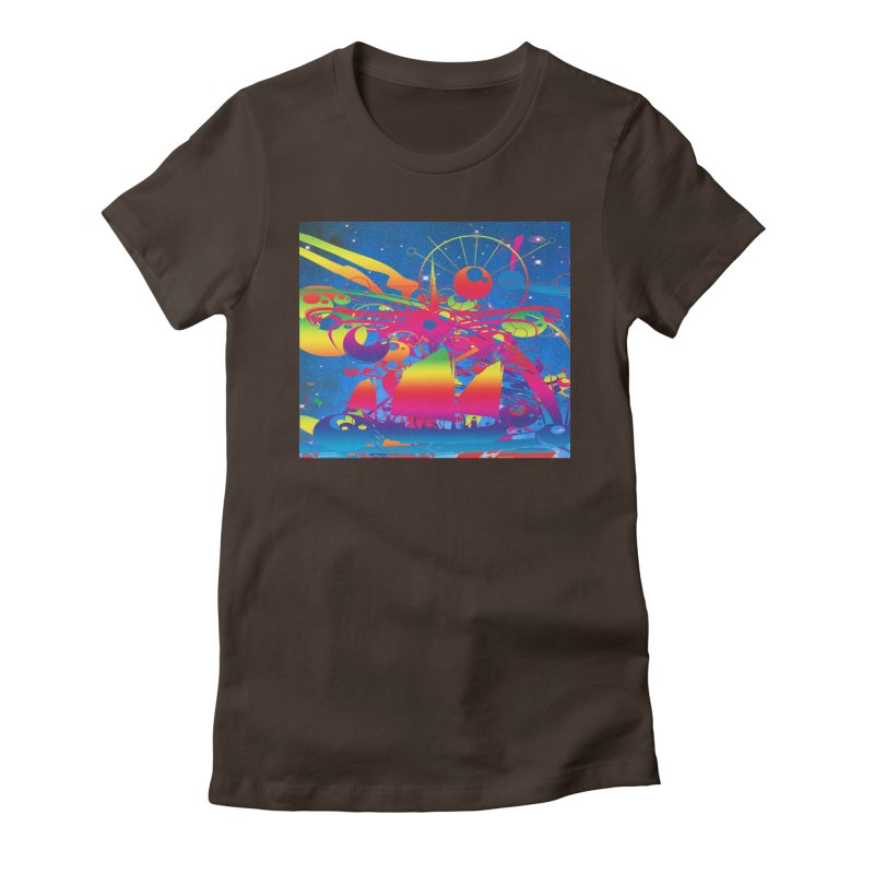 Star Ship Women's T-Shirt by Matthew Lacey-icarusismartdesigns