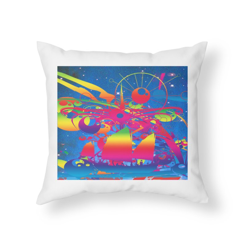 Star Ship Home Throw Pillow by Matthew Lacey-icarusismartdesigns