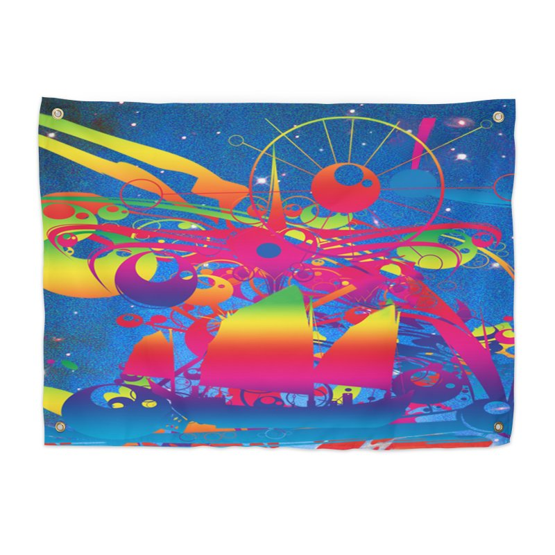 Star Ship Home Tapestry by Matthew Lacey-icarusismartdesigns