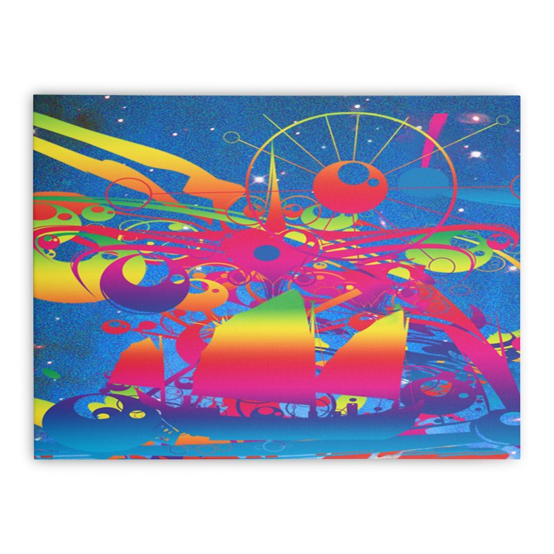 Star Ship Home Stretched Canvas by Matthew Lacey-icarusismartdesigns