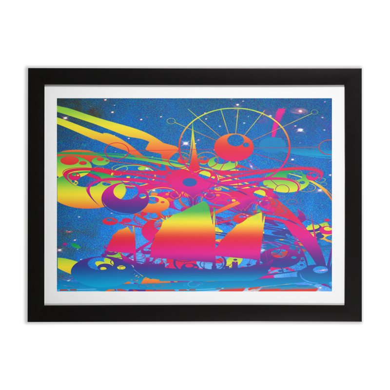 Star Ship Home Framed Fine Art Print by Matthew Lacey-icarusismartdesigns