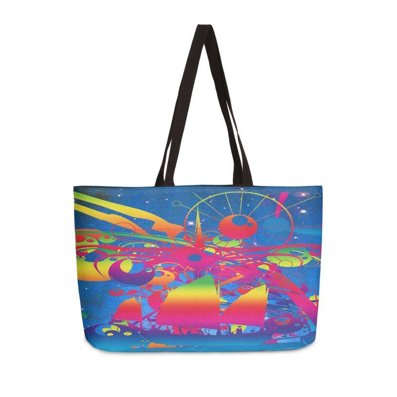 Star Ship Accessories Weekender Bag Bag by Matthew Lacey-icarusismartdesigns