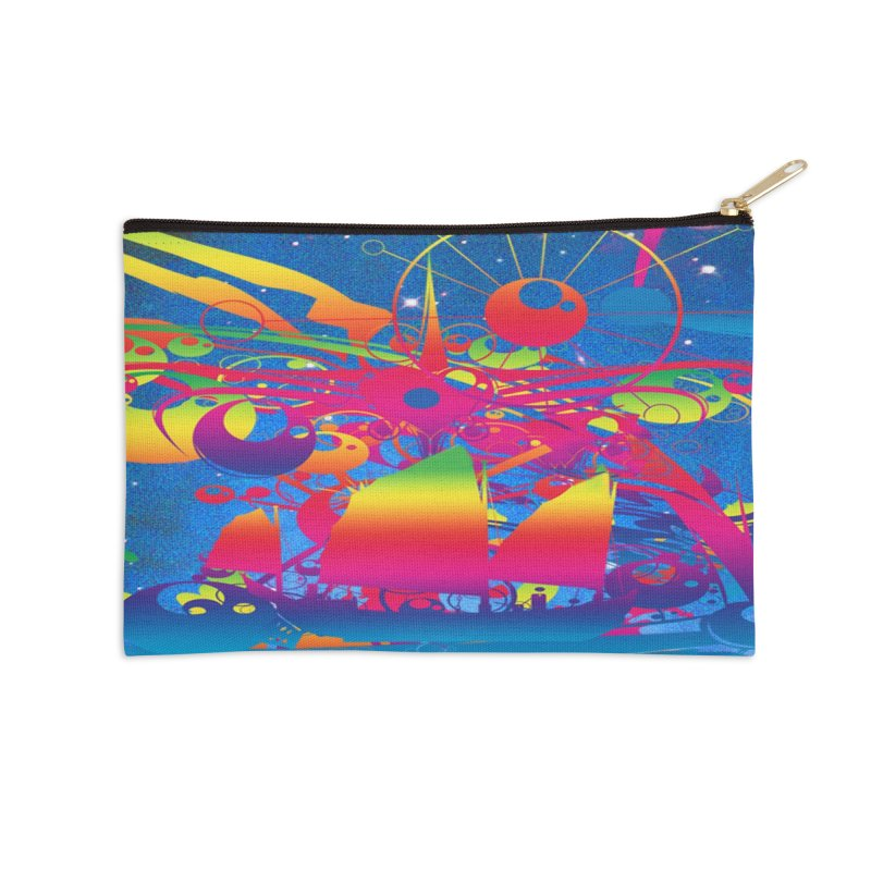 Star Ship Accessories Zip Pouch by Matthew Lacey-icarusismartdesigns