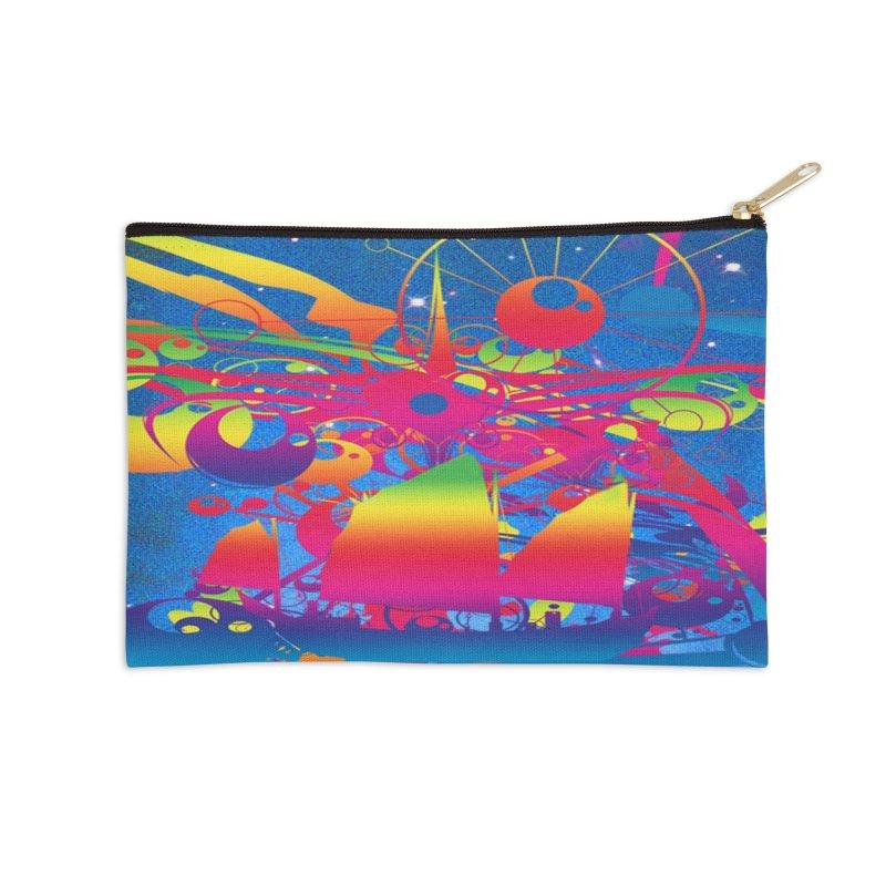 Star Ship Accessories Zip Pouch by Matthew Lacey-icarusismartdesigns
