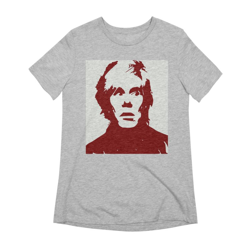 Andy Warhol Women's Extra Soft T-Shirt by Matthew Lacey-icarusismartdesigns