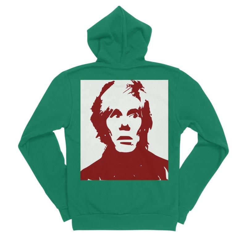 Andy Warhol Women's Sponge Fleece Zip-Up Hoody by Matthew Lacey-icarusismartdesigns
