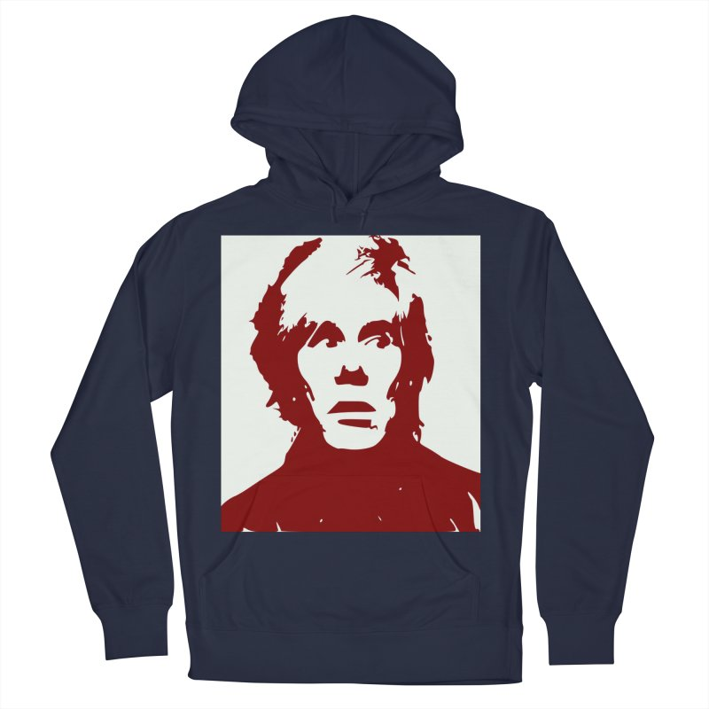 Andy Warhol Women's French Terry Pullover Hoody by Matthew Lacey-icarusismartdesigns