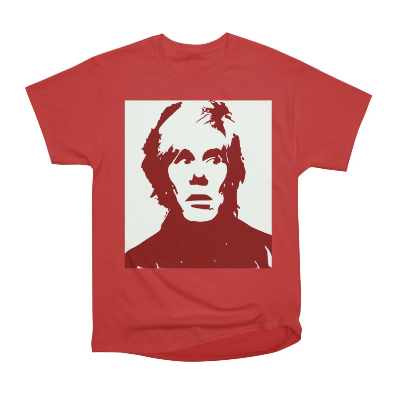 Andy Warhol Men's Heavyweight T-Shirt by Matthew Lacey-icarusismartdesigns