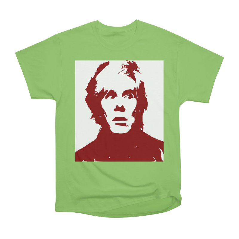 Andy Warhol Men's Heavyweight T-Shirt by Matthew Lacey-icarusismartdesigns