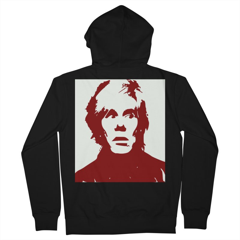 Andy Warhol Women's French Terry Zip-Up Hoody by Matthew Lacey-icarusismartdesigns