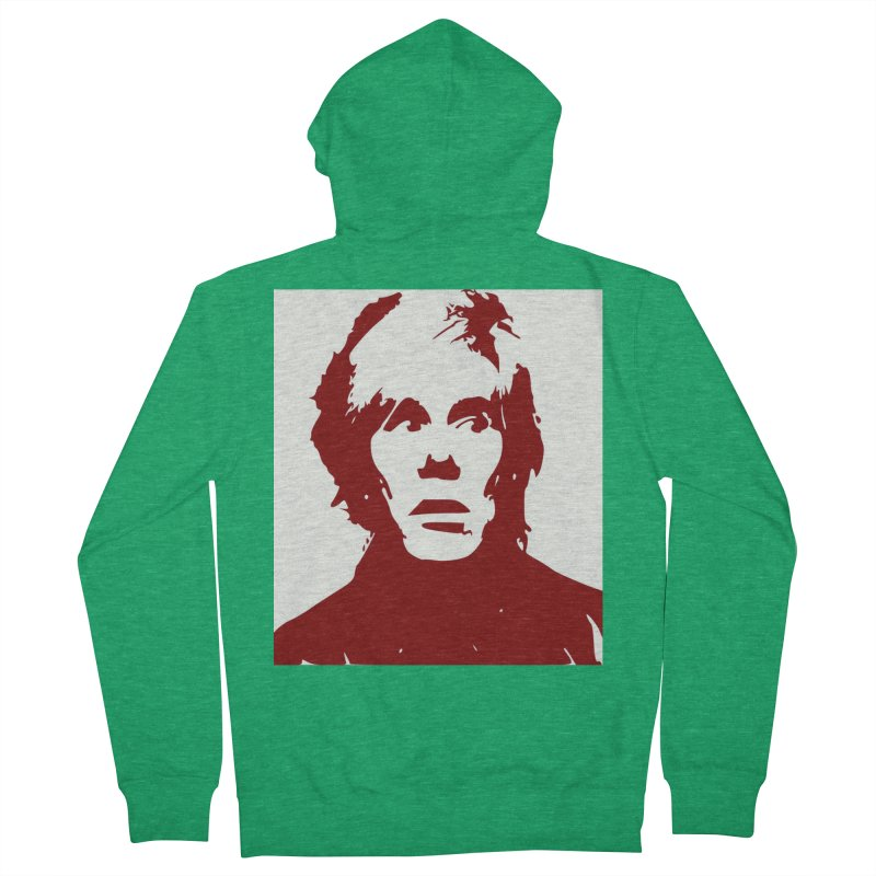 Andy Warhol Men's Zip-Up Hoody by Matthew Lacey-icarusismartdesigns