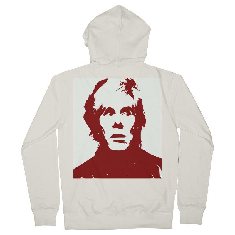 Andy Warhol Men's Zip-Up Hoody by Matthew Lacey-icarusismartdesigns